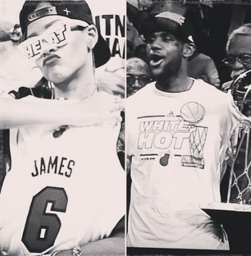 Rihanna, LeBron James, Instagram
