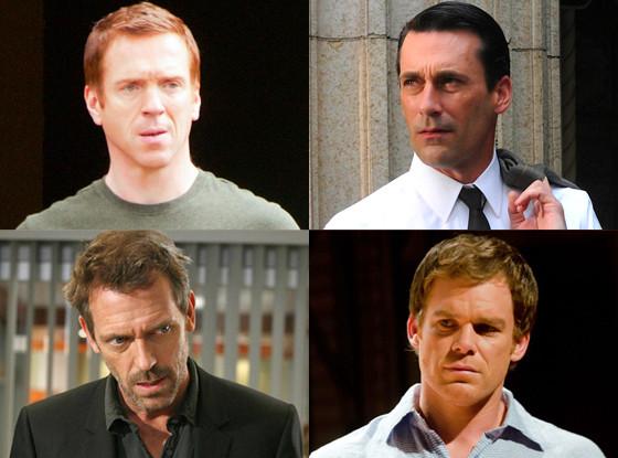 Hugh Laurie, House Michael C. Hall, Dexter Damien Lewis, Homeland Jon Hamm, Mad Men