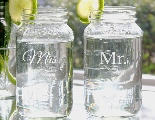 Online Wedding Gift: Cathys Concepts Mr. And Mrs. Bell Jar Set From Wedding