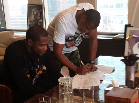 Kevin Durant, Jay-Z, Twit Pic