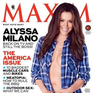 Maxim For Alyssa Strips Milano Down CoverENews W92DIEHY