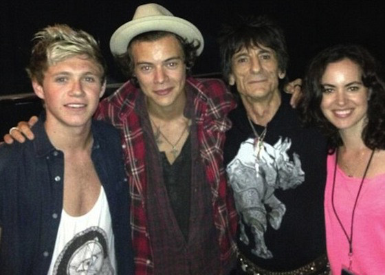 Harry Styles, Niall Horan, Ronnie Wood, One Direction