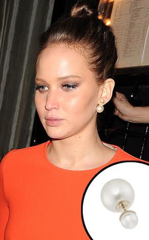 Jennifer Lawrence, Dior Earrings