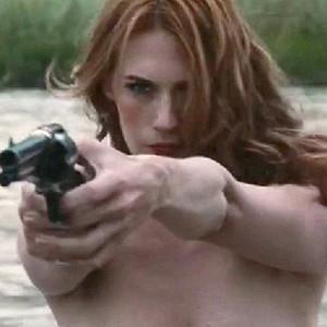 January Jones, Sweetwater Trailer, Topless