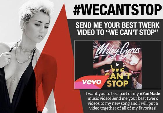 Miley Cyrus, Facebook