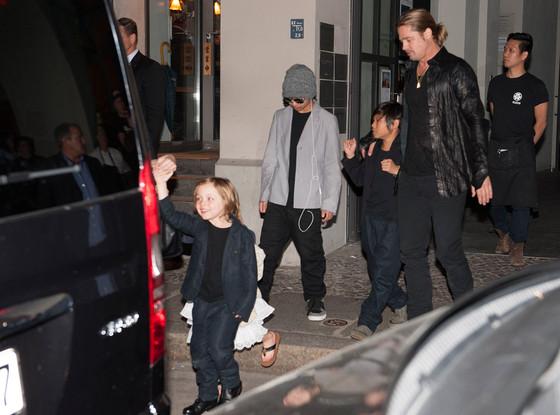 Brad Pitt, Pax, Maddox, Knox