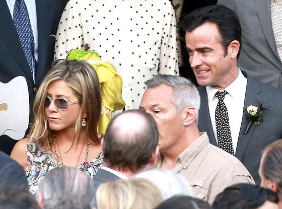 Jennifer Aniston, Justin Theroux, Lake Bell Wedding