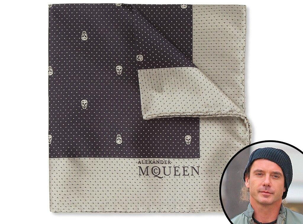 7e50c223a470b Alexander McQueen, Skull Patterned Silk Pocket Square from 2013 ...