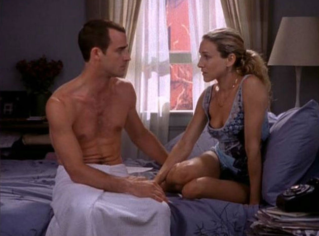 """Justin Theroux -  In """"The Monogamists"""" (Season 1), the actor's character gets flirty with Carrie after being introduced by Stanford. Jennifer Aniston's ex-hubby also pops up in """"Shortcomings"""" (Season 2) as a fellow writer named Vaughn Wysel whose relationship with Carrie ultimately falls apart over performance problems in the bedroom."""