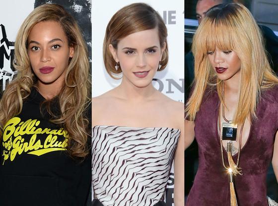 Beyonce, Rihanna, Emma Watson