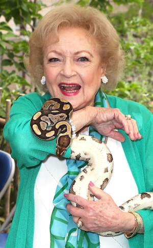 Betty White, Snake, Celebrity Pet Advocates