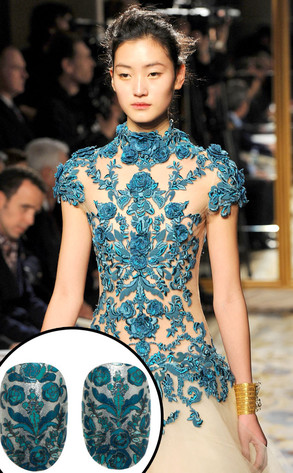 Marchesa Fall 2012, Revlon Nails
