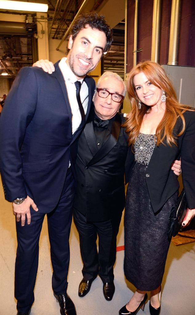 Sacha Baron Cohen, Martin Scorsese, Isla Fisher