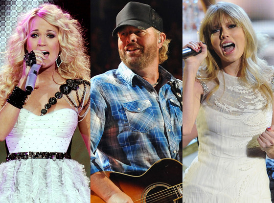 Carrie Underwood, Toby Keith, Taylor Swift