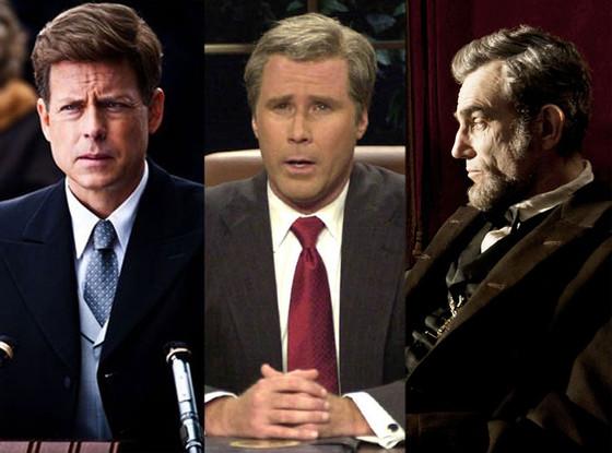 Stars Playing Presidents: Greg Kinnear, Will Ferrell, Daniel Day Lewis
