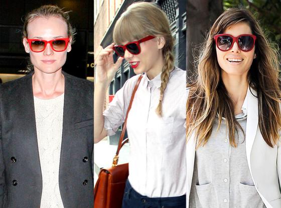 Diane Kruger, Jessica Biel, Taylor Swift, Sunglasses Trend