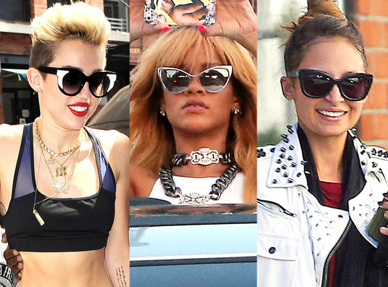 Nicole Richie, Rihanna, Miley Cyrus, Sunglasses Trend b9d362d0d5