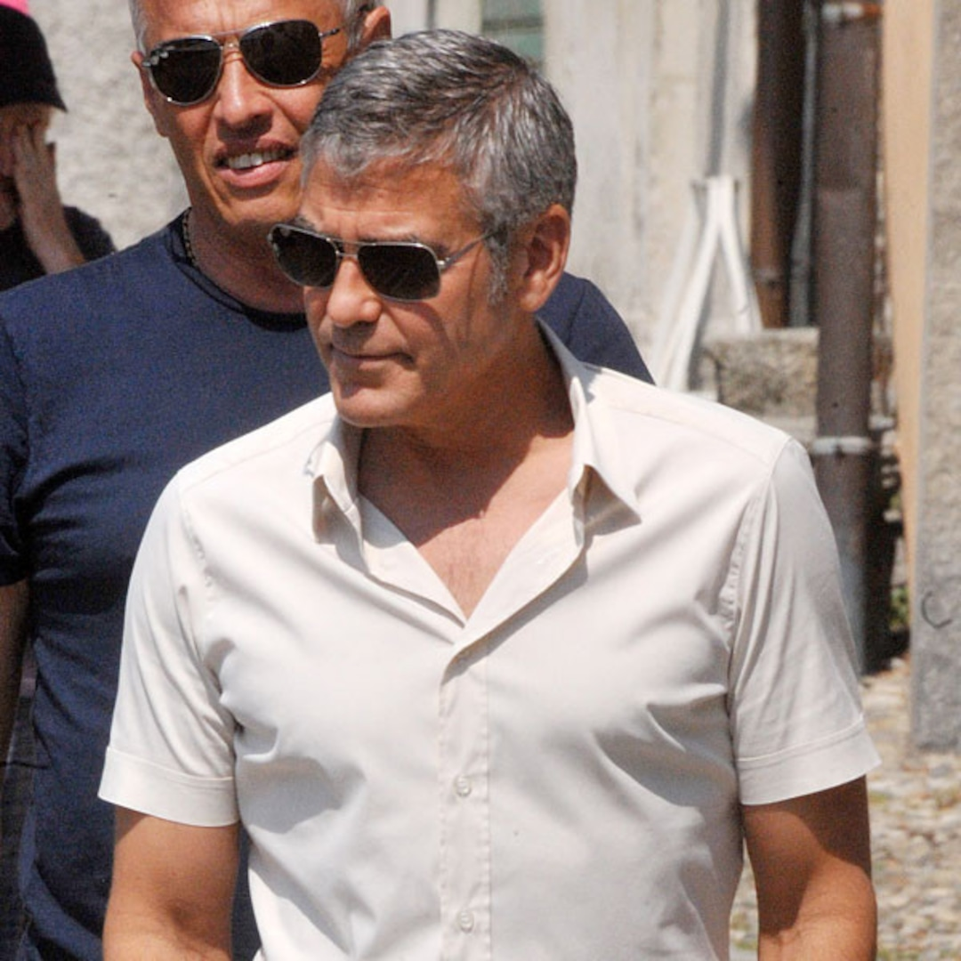 George Clooney Spotted Strolling Solo Following Stacy