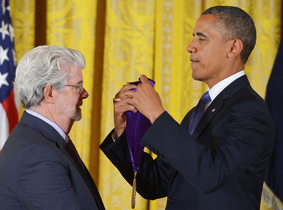 President Barack Obama, Director George Lucas