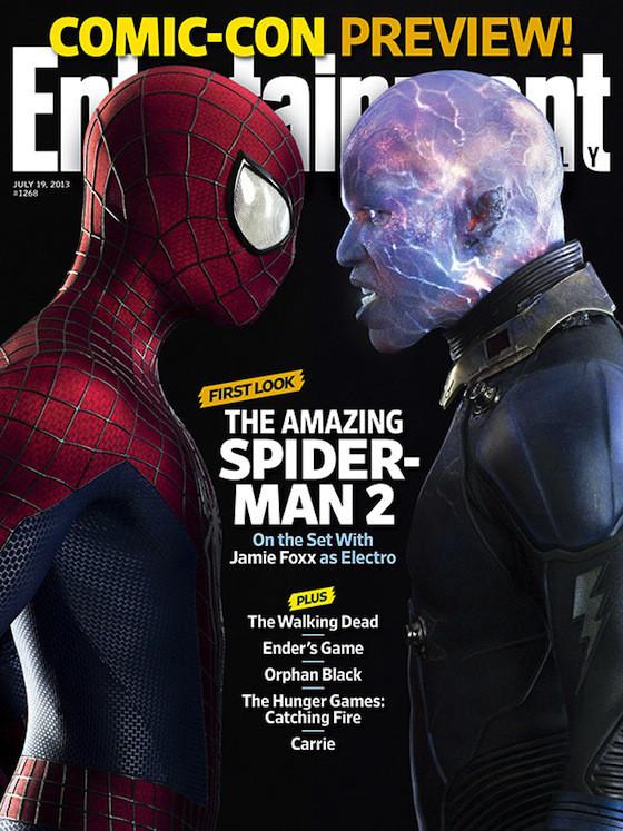 Andrew Garfield, Jamie Foxx, The Amazing Spider-Man 2, Entertainment Weekly