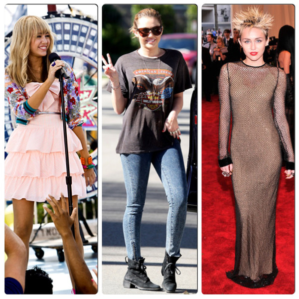 Miley Cyrus, evolucao fashion Miley Cyrus