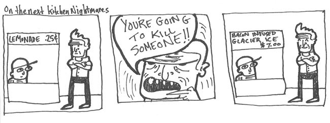 In Three Panels, Soup, Kitchen Nightmares
