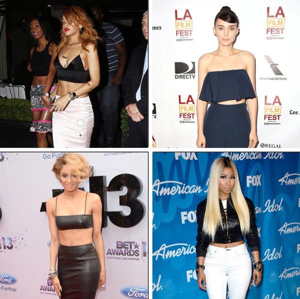 Rihanna, Ciara, Rooney Mara, Nicki Minaj, famosas barriga de fora