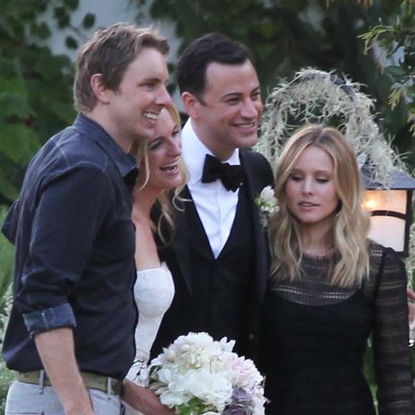 Dax Shepard and Kristen Bell, Jimmy Kimmel, Molly McNearney, Kimmel Wedding