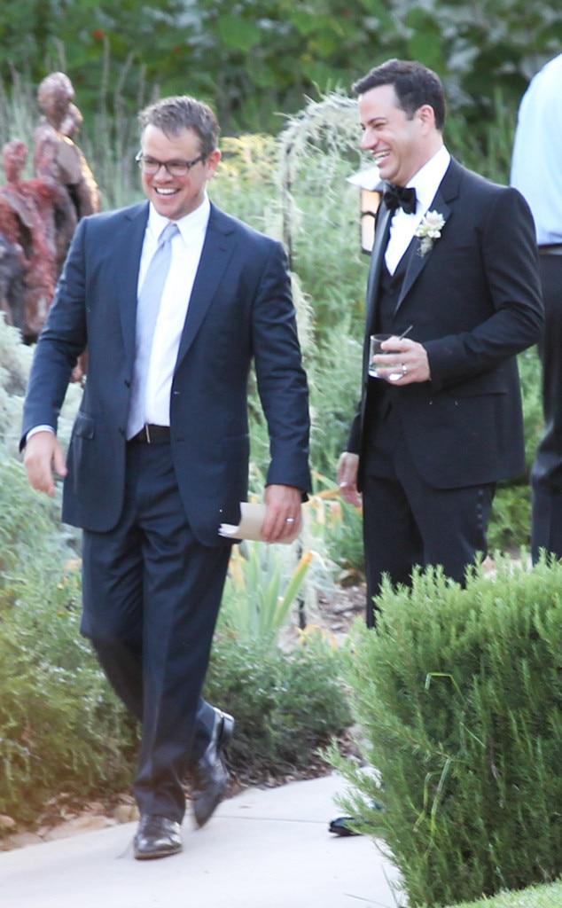 Matt Damon, Jimmy Kimmel, Kimmel Wedding