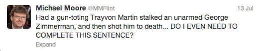 Trayvon Martin tweets - Michael Moore
