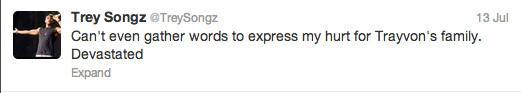 Trayvon Martin tweets - Trey Songz