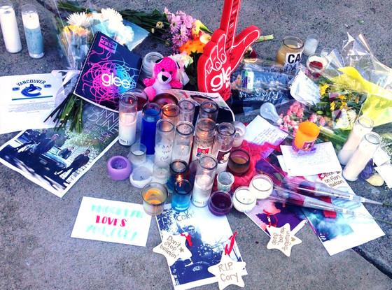 Cory Monteith, Memorial