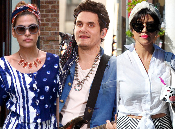 Eva Mendes, John Mayer, Kourtney Kardashian