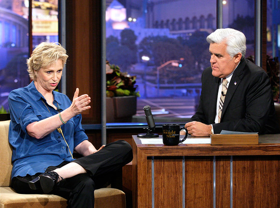 Jane Lynch, Jay Leno