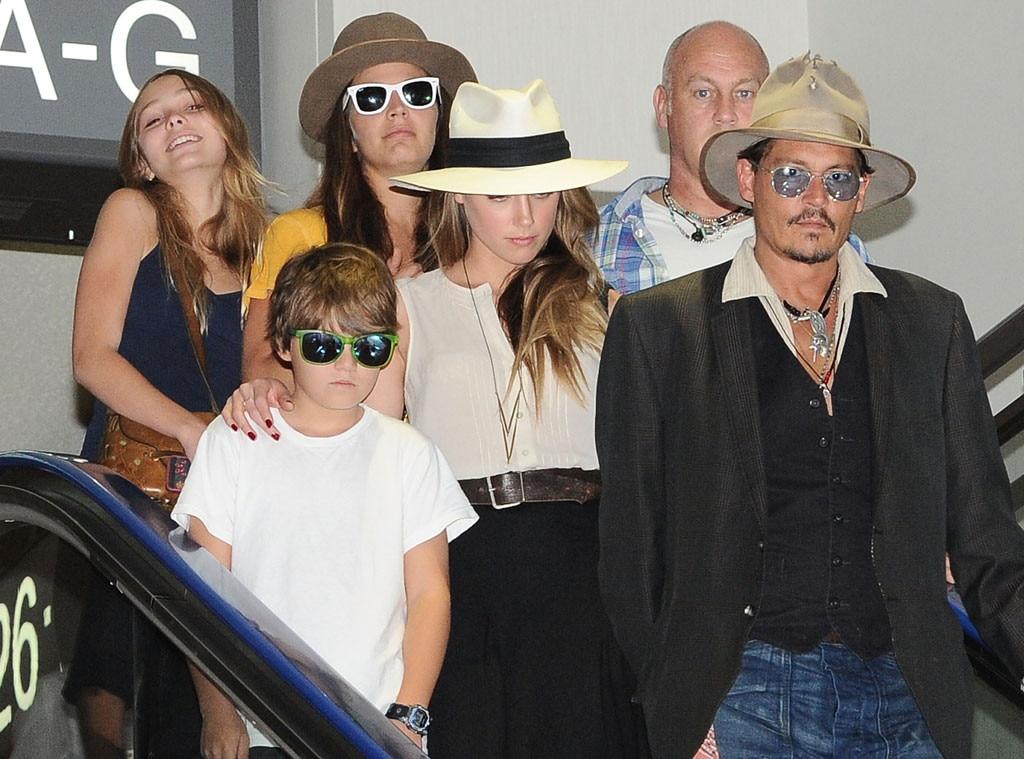 Johnny Depp, Amber Heard, Jack Depp, Lily Rose Melody Dep