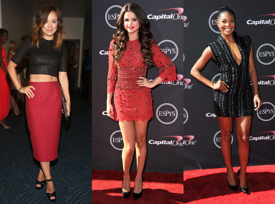 002503af6a3 2013 ESPY Awards  Best Dressed  Olivia Wilde Wows in Abtastic Top and Selena  Gomez Looks Lovely in Lacy Dress