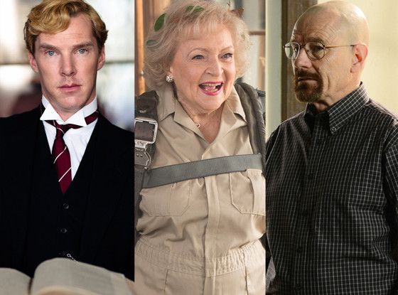Benedict Cumberbatch,  Parades End, Betty White, Betty White's Off Their Rockers, Bryan Cranston, Breaking Ba