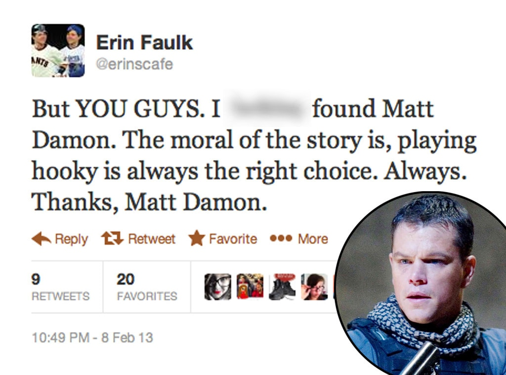 Matt Damon, Twitter, Erin Faulk, Green Zone
