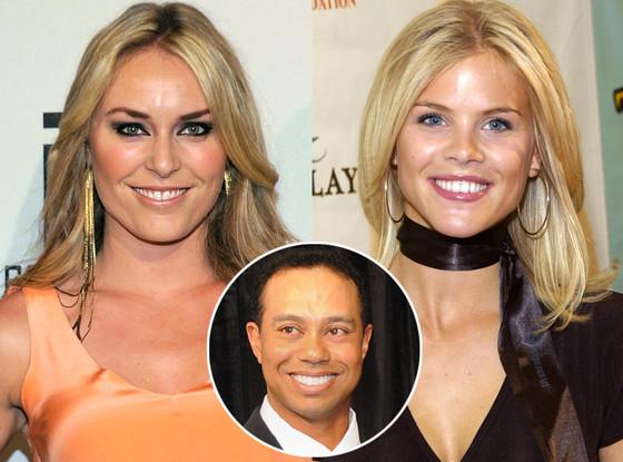 Lindsey Vonn, Elin Nordegren, Tiger Woods