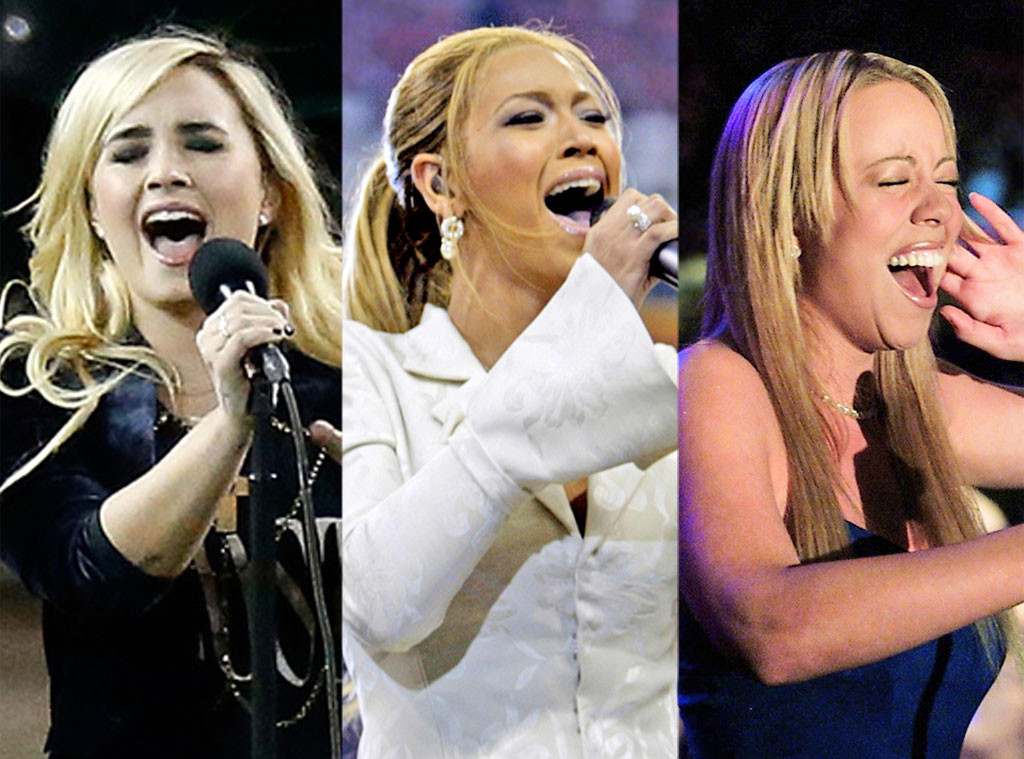 Demi Lovato, Beyonce, Mariah Carey