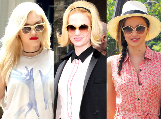Miranda Kerr, January Jones, Gwen Stefani, Sunglasses Trend