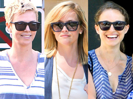 Reese Witherspoon, Natalie Portman, Charlize Theron, Sunglasses Trend