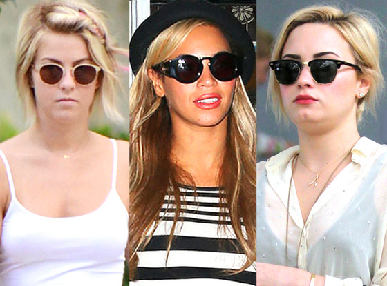 Julianne Hough, Demi Lovato, Beyonce, Sunglasses Trend
