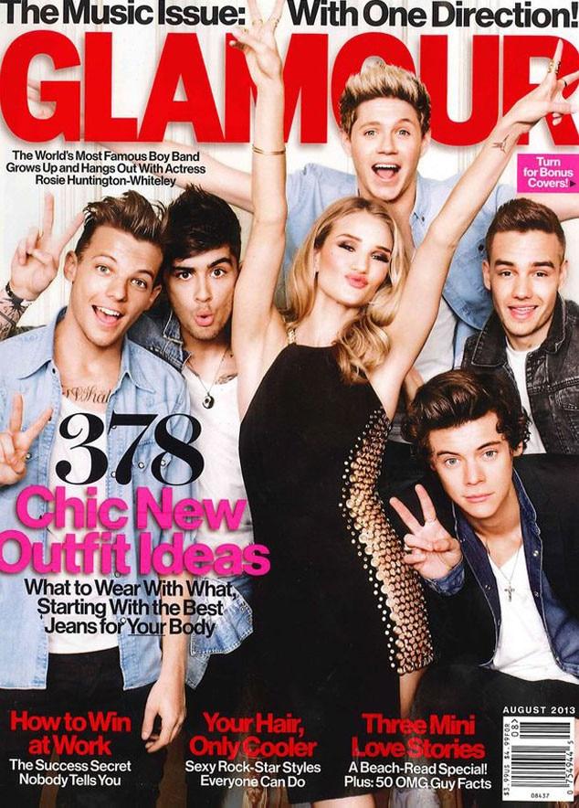Glamour, Rosie Huntington-Whiteley, One Direction