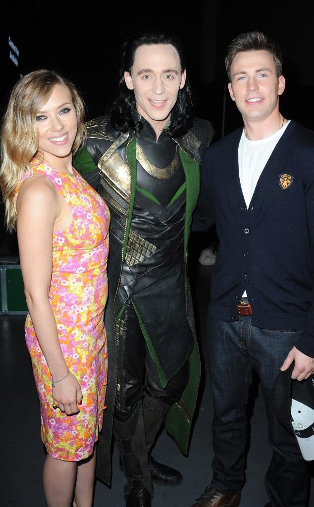 Scarlett Johansson, Tom Hiddleston, Chris Evans