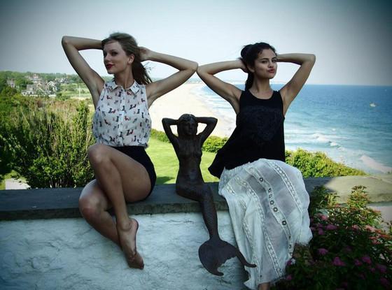 Taylor Swift, Selena Gomez, Twit Pic
