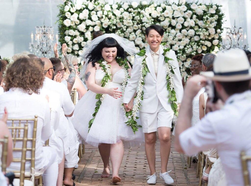 Beth Ditto, Kristen Ogata, Wedding Pic