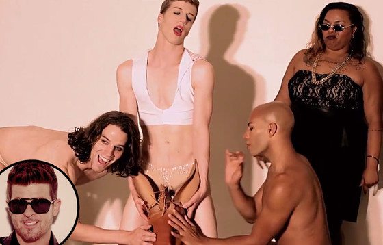 Mod Carousel, Robin Thicke, Blurred Lines Video