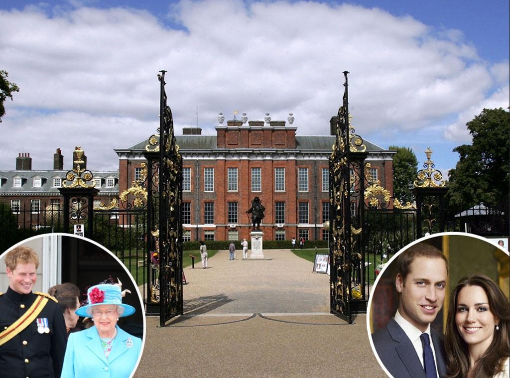 Kensington Palace, Queen Elizabeth, Prince Harry, Prince William, Kate Middleton