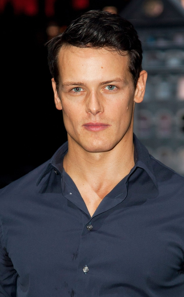 sam heughan from e news 39 hottie of the week. Black Bedroom Furniture Sets. Home Design Ideas